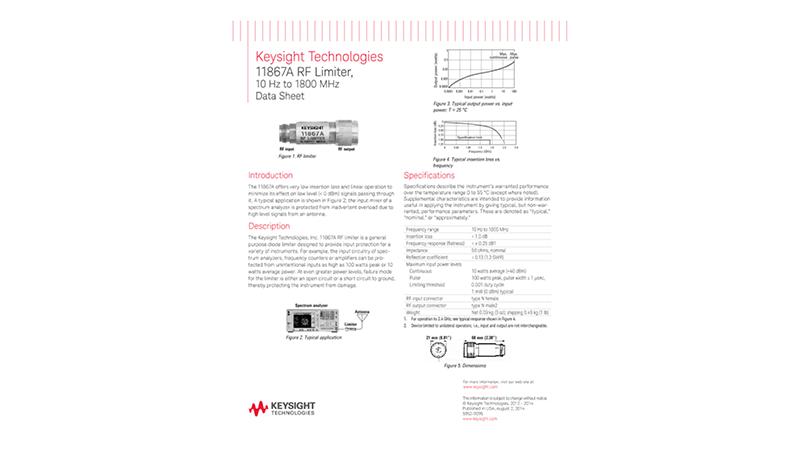 11867A RF Limiter, 10 Hz to 1800 MHz