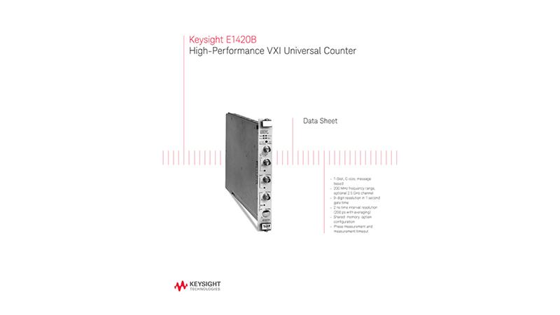 Keysight E1420B High-Performance VXI Universal Counter