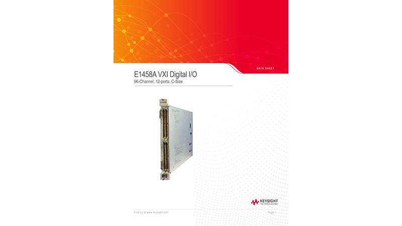Keysight E1458A 96-Channel Digital Input/Output