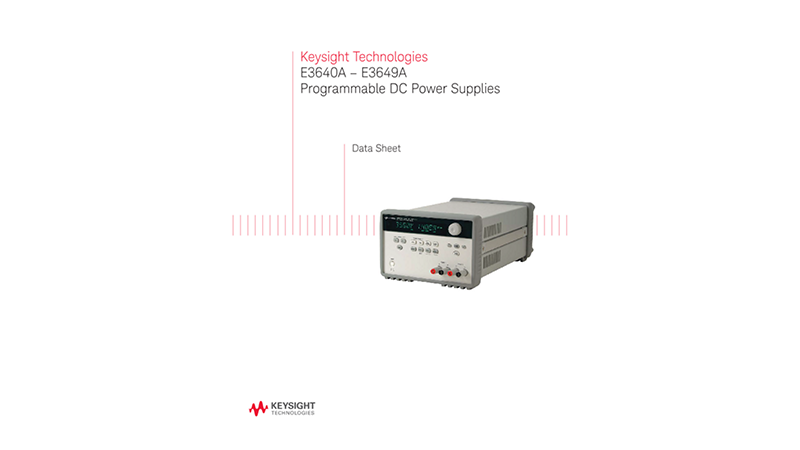 E3640A-E3649A Programmable DC Power Supplies