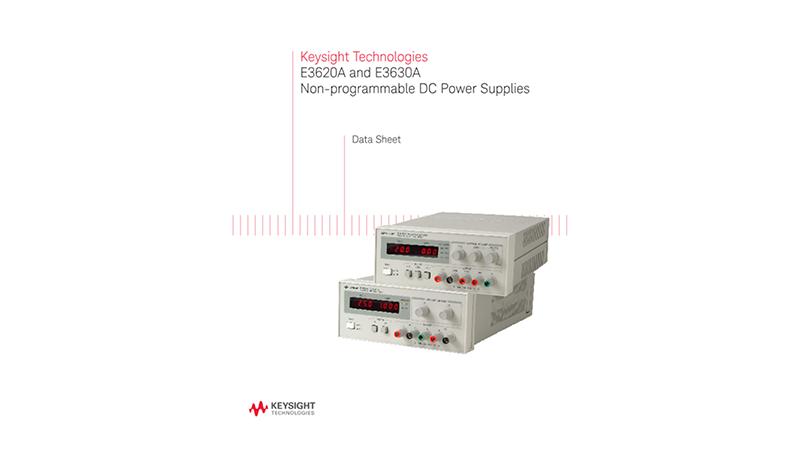 E3620A and E3630A Non-Programmable DC Power Supplies