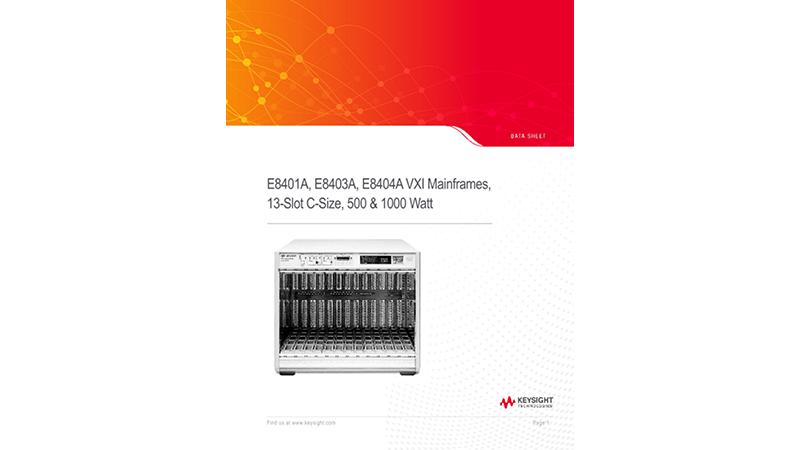 E8401A, E8403A, E8404A VXI Mainframes, 13-Slot, C-Size, 500 & 1000 Watt