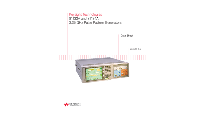 81133A and 81134A 3.35 GHz Pulse Pattern Generators
