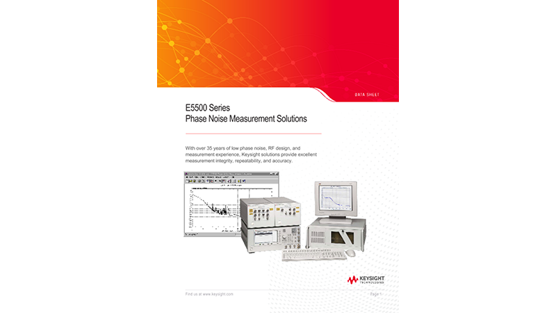 E5500 Series Phase Noise Measurement Solutions