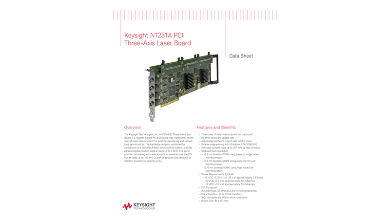 Keysight N1231A PCI Axis Laser Board