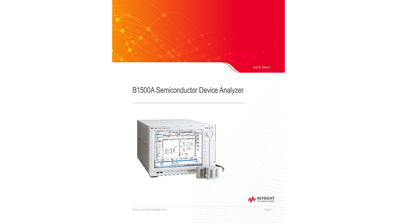 B1500A Semiconductor Device Analyzer