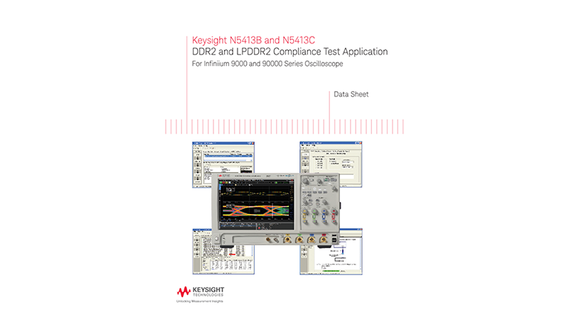 N5413B and N5413C DDR2 and LPDDR2 Compliance Test Application
