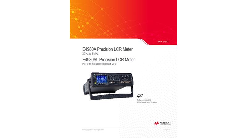 E4980A Precision LCR Meter, E4980AL Precision LCR Meter