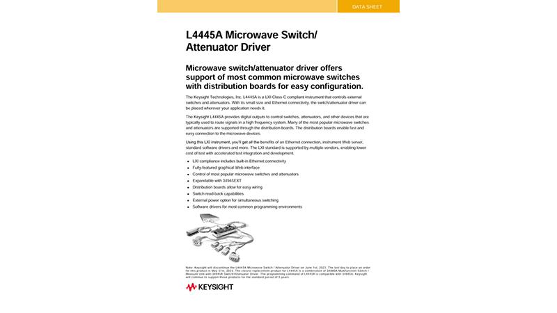 L4445A Microwave Switch/Attenuator Driver