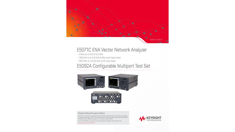 E5071C ENA Vector Network Analyzer, E5092A Configurable Multiport Test Set