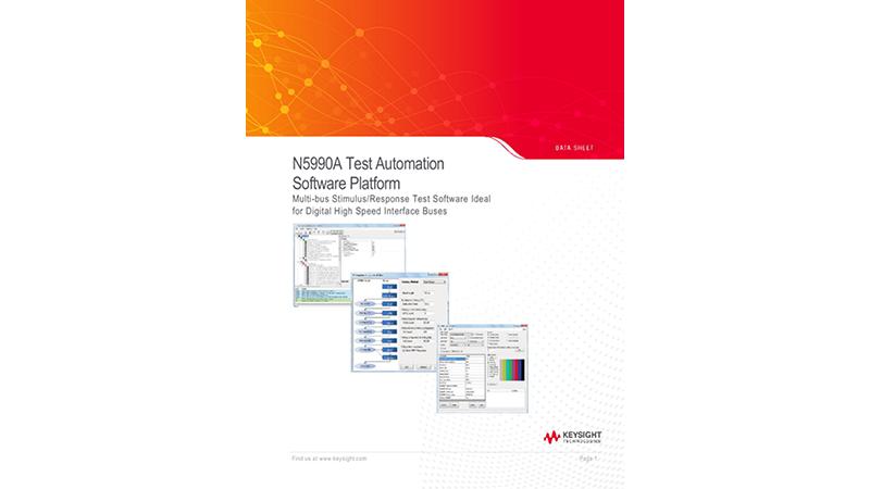 N5990A Test Automation Software Platform
