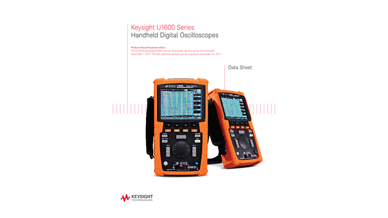 U1600 Series Handheld Digital Oscilloscopes - Datasheet