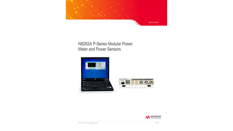 N8262A P-Series Modular Power Meter and Power Sensors