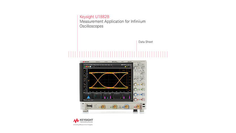 U1882B Measurement Application for Infiniium Oscilloscopes