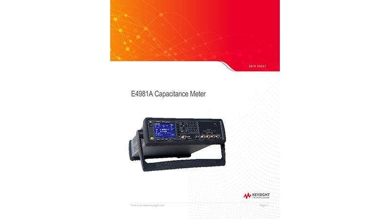 E4981A Capacitance Meter