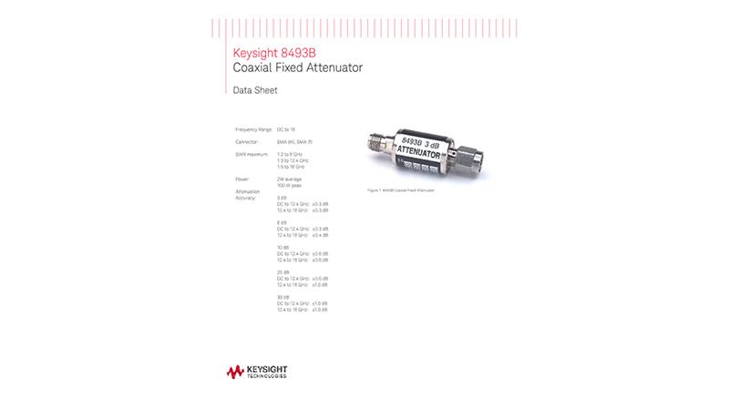 8493B Coaxial Fixed Attenuator