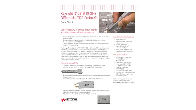 N1021B 18 GHz Differential TDR Probe Kit