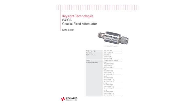 8493A Coaxial Fixed Attenuator