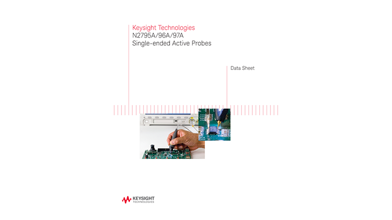 N2795A/96A/97A Single-ended Active Probes