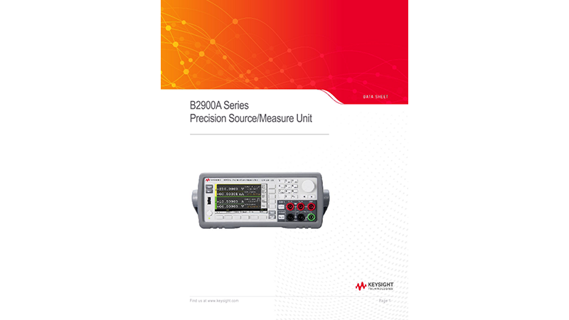 B2900A Series Precision Source/Measure Unit