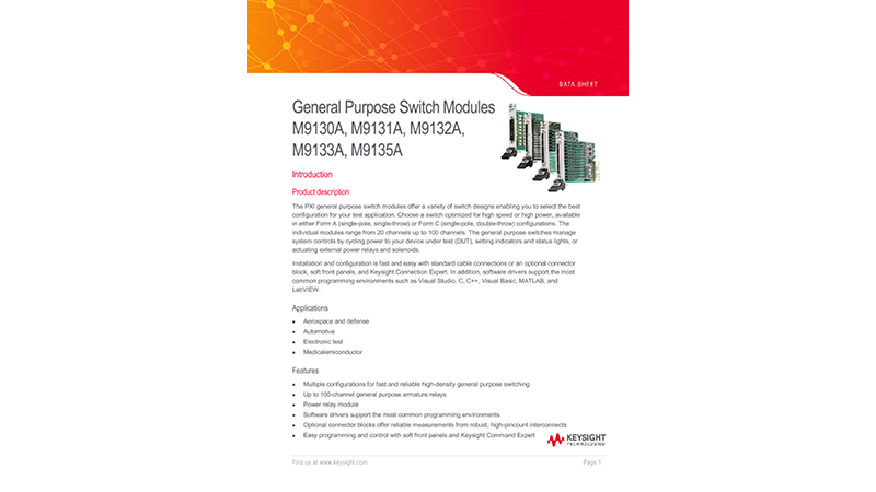 PXI General Purpose Switch Module