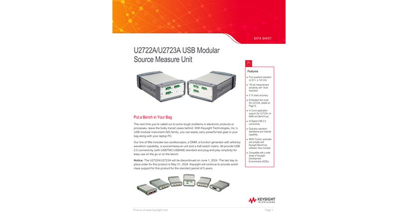 U2722A/U2723A USB Modular Source Measure Unit