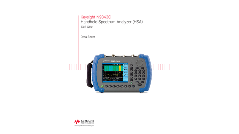 N9343C Handheld Spectrum Analyzer (HSA)