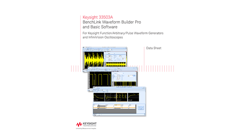 33503A BenchLink Waveform Builder Pro and Basic Software