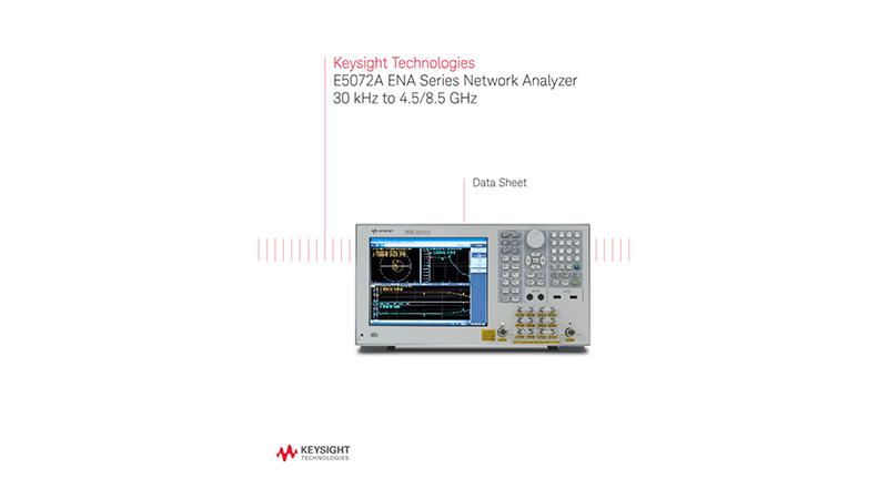 E5072A ENA Series Network Analyzer 30 kHz to 4.5 /8.5 GHz