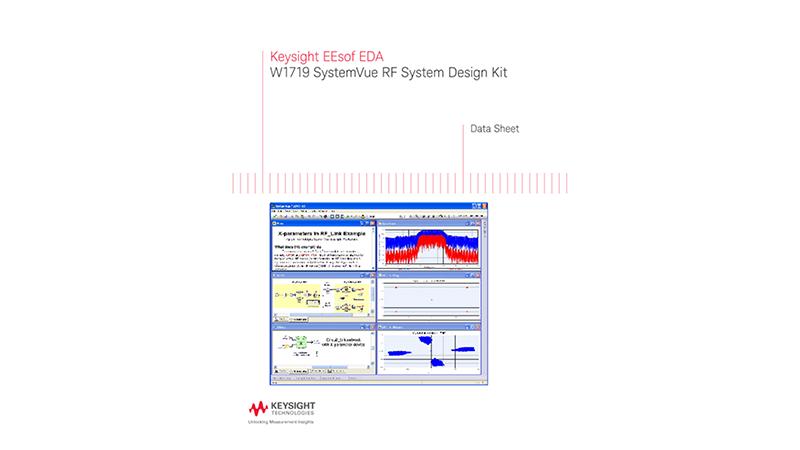 W1719 SystemVue RF System Design Kit