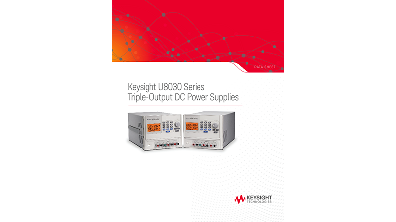 U8030 Series Triple-Output DC Power Supplies