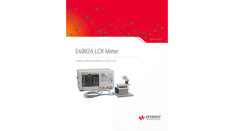 E4982A LCR Meter 1 MHz to 300 MHz/500 MHz/1 GHz/3 GHz