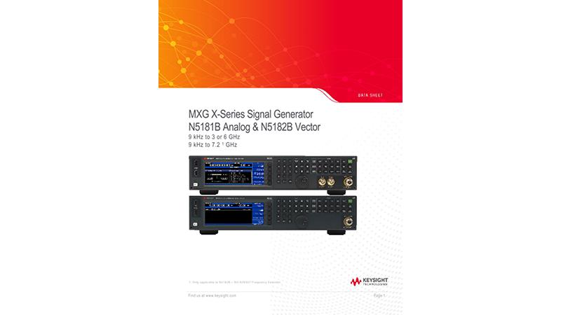MXG X-Series Signal Generator N5181B Analog & N5182B Vector