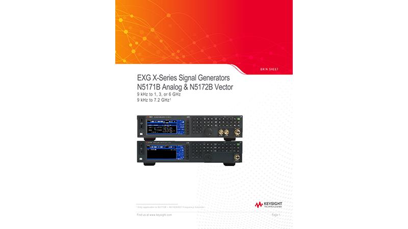 EXG X-Series Signal Generators N5171B Analog & N5172B Vector