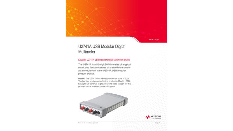 U2741A USB Modular Digital Multimeter