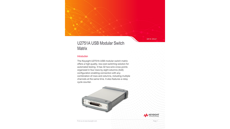 U2751A USB Modular Switch Matrix–Data Sheet