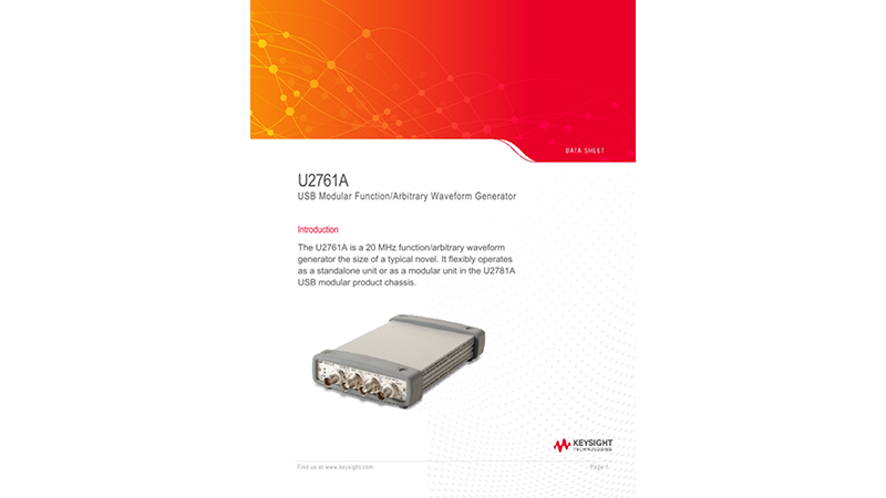 U2761A USB Modular Function/Arbitrary Waveform Generator