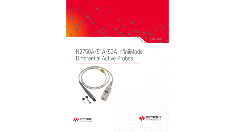 N2750A/51A/52A InfiniiMode Differential Active Probes