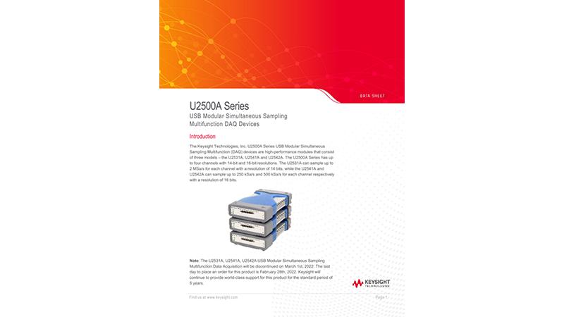 U2500A Series USB Modular Simultaneous Sampling Multifunction DAQ Devices