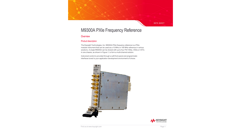 M9300A PXIe Frequency Reference