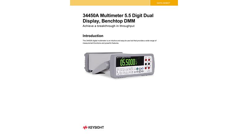 34450A Multimeter 5.5 Digit Dual Display, Benchtop DMM