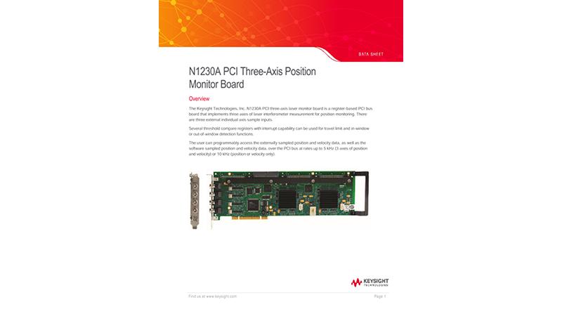 N1230A PCI Three-Axis Position Monitor Board