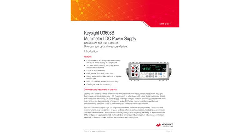 U3606B Multimeter I DC Power Supply