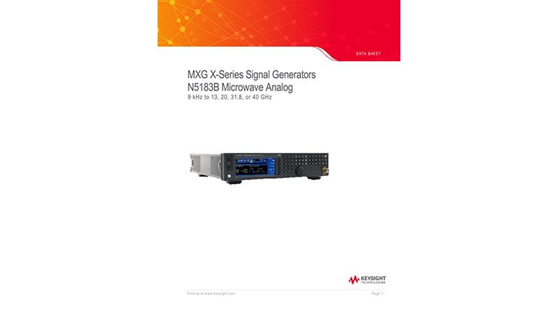 MXG X-Series Signal Generators N5183B Microwave Analog