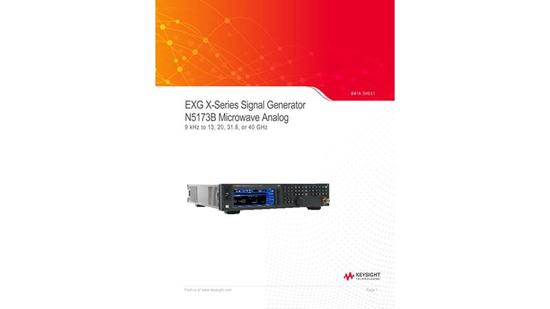 EXG X-Series Signal Generator N5173B Microwave Analog
