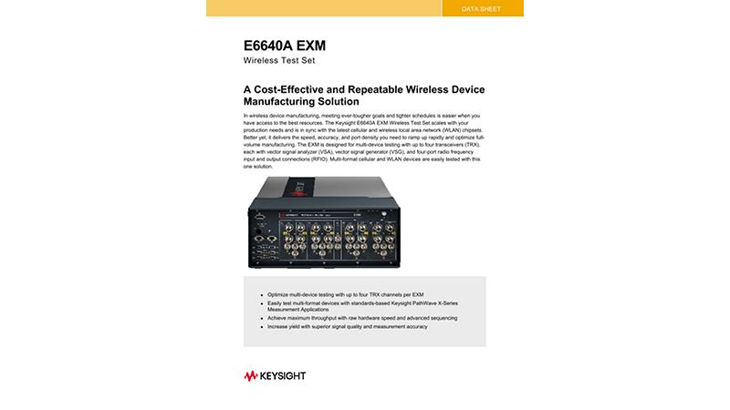 E6640A EXM Wireless Test Set