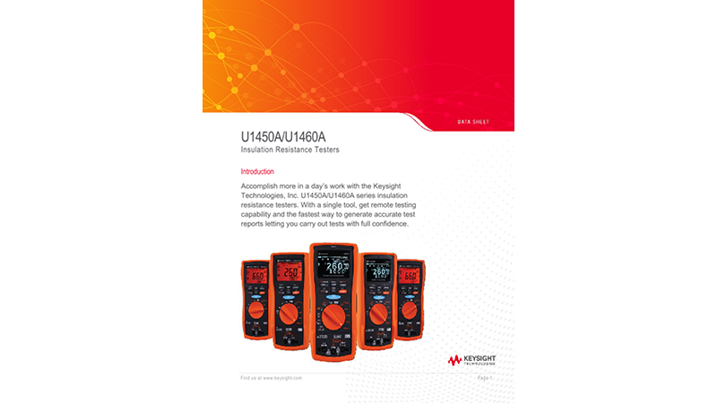 U1450A/U1460A Insulation Resistance Testers