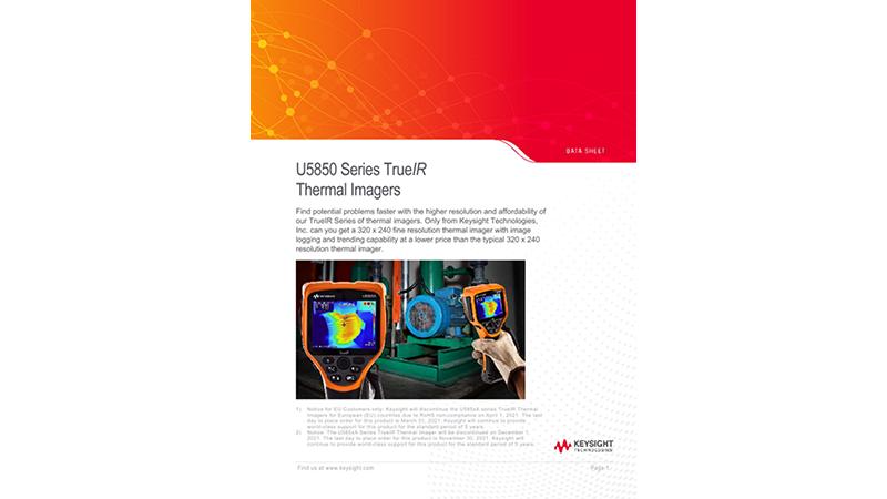U5850 Series TrueIR Thermal Imagers