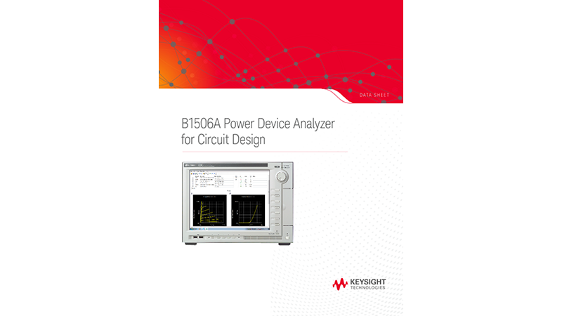 B1506A Power Device Analyzer for Circuit Design