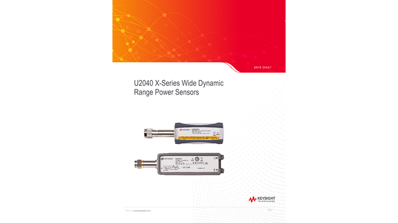 U2040 X-Series Wide Dynamic Range Power Sensors